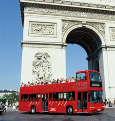 Paris Bus Tour - Free Hop-on Hop Off Bus Tour of Paris...the way we will need to see the city to decide where he wants to spend more time.