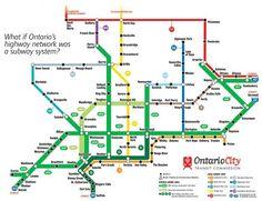Ontario Highway Map