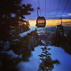 Sunset skiing in Snowmass; the Elk Camp gondola and chair are open until 7:00pm 3/20/2014