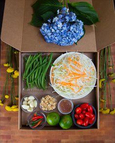 Thai Direct's Som Tum (or papaya salad) meal kit box.