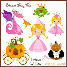 PRINCESS FAIRY TALE  Clip art set in premium by LittlePumpkinsPix, $4.50
