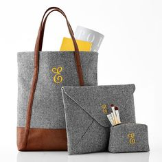 PHOENIX PRO BOLD, monogram in light taupe,  single letter monogram in small clutch with same letter color