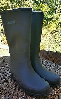 NEW Tretorn Kelly Vinter Lined Rain Boots Size 41/ US 10 Black