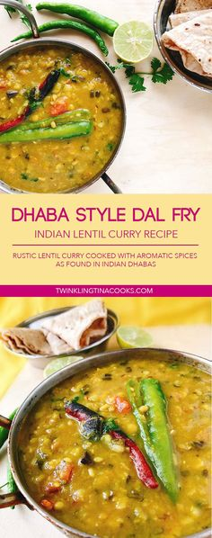 The Dhaba Style Dal Fry Recipe is a popular Indian Lentil Recipe that is served in Dhabas, on Indian highways. The Dhaba style dal.and aromatic tempering. Indian Lentil Curry, Lentil Recipes Indian, Indian Food Recipes, Asian Recipes, Daal Recipe Indian, Punjabi Recipes, Tikka Recipe, North Indian Recipes, Punjabi Food