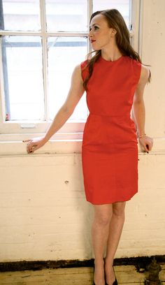 1960s Dress // Red Cocktail Dress // Small by dethrosevintage, $48.00