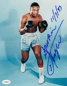 "Joseph William ""Joe"" Frazier (January 12, 1944 – November 7, 2011), also known as Smokin' Joe, was an American professional boxer, Olympic gold medalist and Undisputed World Heavyweight Champion, whose professional career lasted from 1965 to 1976, with a one-fight comeback in 1981."