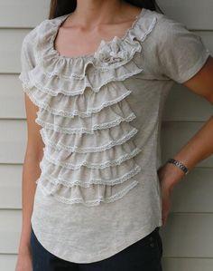 DIY Clothes Refashion: DIY Tea Rose Home: Four Shirts Four Ways