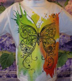 Пятна на детской футболке не горе, а повод нарисовать модный рисунок! - Ярмарка Мастеров - ручная работа, handmade