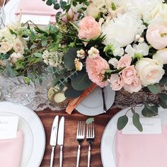A swoon worthy tablescape we did with 3 types of garden roses and our favorite blushy peach color palette with farmhouse tables and lace runners by @thesalvagesnob planning by @mirandaestes  catering by @mena_catering by juliarohdedesigns