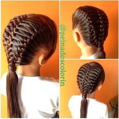 [Pic] complex hair braids connected in corset fashion Little Girl Hairstyles, Pretty Hairstyles, Braided Hairstyles, Natural Hair Styles, Long Hair Styles, Toddler Hair, Crazy Hair, Love Hair, Hair Today