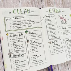 """240 Likes, 18 Comments - M.J. (@pageflutter) on Instagram: """"One of my favorite spreads in my bullet journal. Even though I have been eating clean for almost a…"""""""