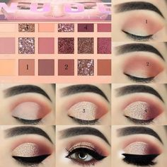 40 Easy Steps Eye Makeup Tutorial For Beginners To Look Great! - - - 40 Easy Steps Eye Makeup Tutorial For Beginners To Look Great! – – 40 Easy Steps Eye Makeup Tutorial For Beginners To Look Great! Sexy Eye Makeup, Makeup Eye Looks, Eye Makeup Steps, Eye Makeup Art, Blue Eye Makeup, Makeup For Brown Eyes, Eyebrow Makeup, Mac Makeup, Huda Beauty Makeup
