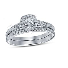 14K White Gold FN D/VVS1 Diamond Beautiful Womens Wedding Bridal Ring Set 1.60Ct #aonejewels