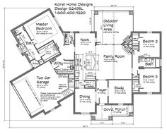 House Plans by Korel Home Designs 2435 sq. ft.