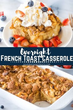 Wake up early and pop this French Toast Casserole into the oven for a delicious homemade breakfast! I love the fact this is an easy Overnight French Toast Casserole so I can make it the night before and sleep in the next morning! You can't beat this break Homemade Breakfast, Delicious Breakfast Recipes, Best Breakfast, Brunch Recipes, Morning Breakfast, Yummy Food, Breakfast Ideas, Quick Recipes, Yummy Yummy