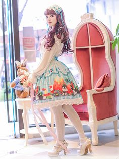 Cute KawaiiLolita Dress / Headband / Lolita Girl / Shoes / Fashion Photography / Cosplay // ♥ More at: https://www.pinterest.com/lDarkWonderland/