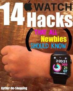 The 14 Apple Watch Hacks That All Newbies Need to Know - Best Money Saving Tips - Watches Apple Watch Iphone, Apple Watch Hacks, Best Apple Watch Apps, Used Apple Watch, Apple Apps, Apple Watch Series 3, 38mm Apple Watch, Apple Watch Fitness, Smartwatch