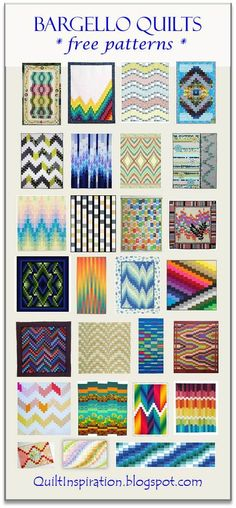 Quilt Inspiration: Free pattern day: Bargello Quilts. Updated June 2016 with more free patterns.