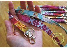 "Great for your favorite person who wears a lanyard for work | ""Sew""ing Seeds with the Two Peas {a patchwork lanyard tutorial} 