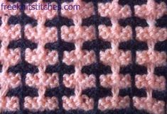 Knitting Stitch - Beautiful slip stitch pattern - not difficult and what a great look! Chart included.