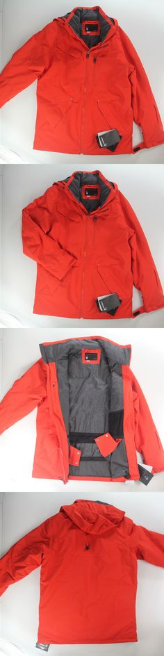 Coats and Jackets 26346: Spyder Defender Ski Snowboard Jacket Coat Volcano Red Insulated Men S Large $300 -> BUY IT NOW ONLY: $149.99 on eBay!