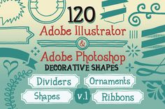 FREE! 120 Handwritten Decorative Shapes 01 ~ Objects on Creative Market