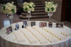 Personalized Wedding Escort Table with Photos {Bradley Images} - mazelmoments.com