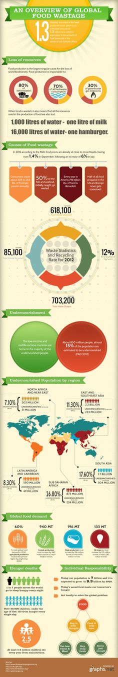 Food waste: An Overview of Global Food Wastage #Infographics