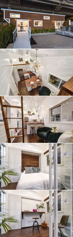 The Mint Loft #7 by Mint Tiny Homes was featured in the BC Home & Garden Show. The 34-foot tiny home has a main floor bedroom with murphy bed, large kitchen, and guest bedroom loft.
