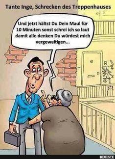 Tante Inge, Schrecken des Treppenhauses.. | Lustige Bilder, Sprüche, Witze, echt lustig