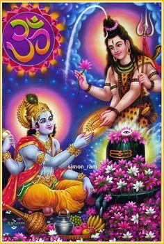 Shiva giving chakra to Vishnu Shiva Art, Shiva Shakti, Hindu Art, Lord Vishnu, Lord Ganesha, Shiva Photos, Ganesh Images, Krishna Images, Lord Krishna Wallpapers