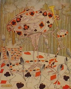 Alice in Wonderland,-Charles Folkard