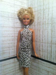 BarbieDollCloths-AnimalPrintTop-MatchingSkirt - Handmade  $12