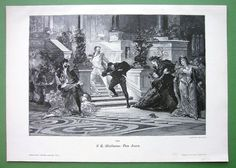 FENCING DUEL Rivals Ladies Fainting Don Juans   by martin2001