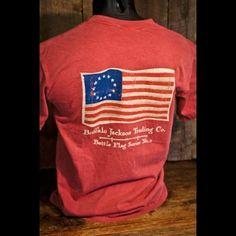 Old Glory - Battle Flag No. 2 - Pocket Tee - Vintage Red