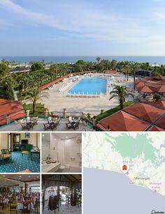 Este acogedor hotel está situado en el este de Antalya, en la costa de Kumköy, que se extiende varios kilómetros hacia el oeste. Está ubicado a solamente un kilómetro del centro de Kumköy, así como a seis kilómetros de Side y a 60 del aeropuerto. A solamente 200 metros podrá encontrar autobuses y taxis. En el norte están las montañas Tauros, con sus altos picos y escarpados cañones. A 200 metros también podrá encontrar tiendas, comercios y restaurantes. Un poco más lejos, pero aun así cerca…