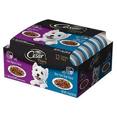 Shopping for Cesar GOURMET FILETS in Sauce Variety Pack - Filet Mignon Flavor and New York Strip Flavor Wet Dog Food Trays, ounce (Pack of Free automatic delivery may be available by subscription. Wet Dog Food, Pet Food, Dog Food Storage, Wild Bird Food, Food Trays, Rotisserie Chicken, How To Stay Healthy, Dog Food Recipes, Pet Supplies