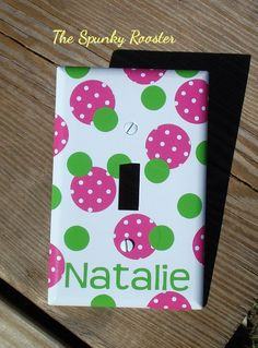 Personalized Light Switch Cover Plate - 1, 2 or 3 Switches