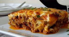 The Greek Moussaka Meat Recipes, Cooking Recipes, Healthy Recipes, Chewy Ginger Cookies, Turkish Recipes, Ethnic Recipes, Musaka, Food Porn, French Dishes