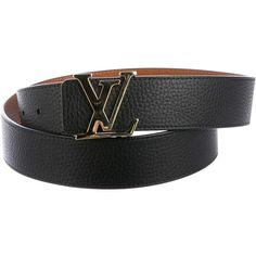 63b1a6193b2b Pre-owned Louis Vuitton 2015 Reversible Initiales 30MM Belt (2.065 RON) ❤  liked