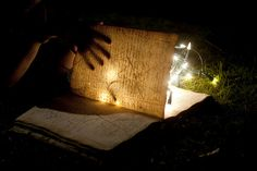 reading by lights