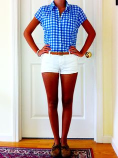 Love Gingham...wear shorts year round.