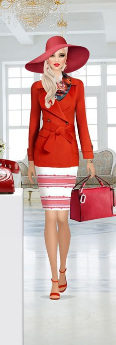 Covet Fashion Games, Fasion, Fashion Dolls, Persona, Style Icons, Puzzles, Peplum Dress, Footwear, Stripes