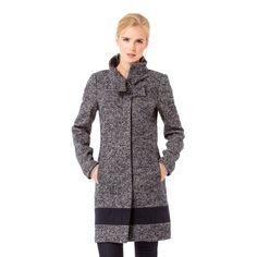 Bouclé-Mantel mit Wolle #zerofashion