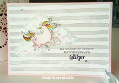 stampin occassions ocassions 2018 spring uniorn Magical day girlie Card birthday Einhorn glittery glitzer karte zauberhafter tag