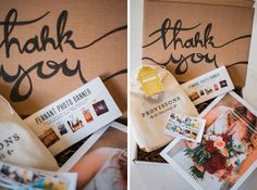 New Client Packaging. Marketing For Photographers. Thank You For Booking Me Client Gifts. Thank You Boxes. Duchess Bake Shop. Urban Outfitters. MagCloud. Edmonton Wedding Photographer. Photographed by Rhiannon Sarah. Image found on The Rhiannon Sarah Blog