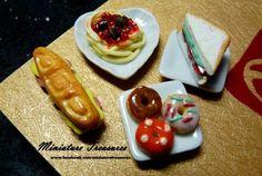 Handmade miniature food models from polymer clay www.facebook.com/miniaturetreasures