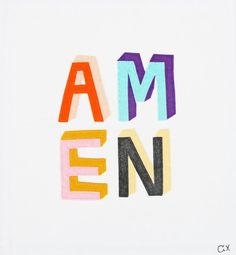 Amen graphic art