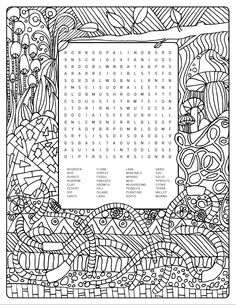 earthy themed word search colouring page is up for grabs help yourself