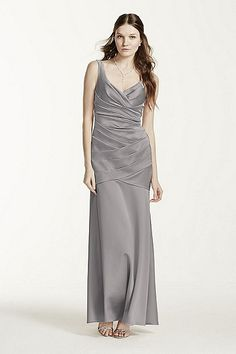 MORE COLORS Sleeveless Stretch Satin Dress Style F15652 In Store & Online $179.00